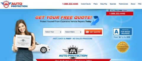 AA Auto Protection Extended Car Warranty