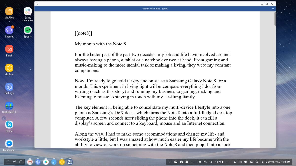 A Month with the Note 8: Can Samsung's Phablet Replace a Laptop
