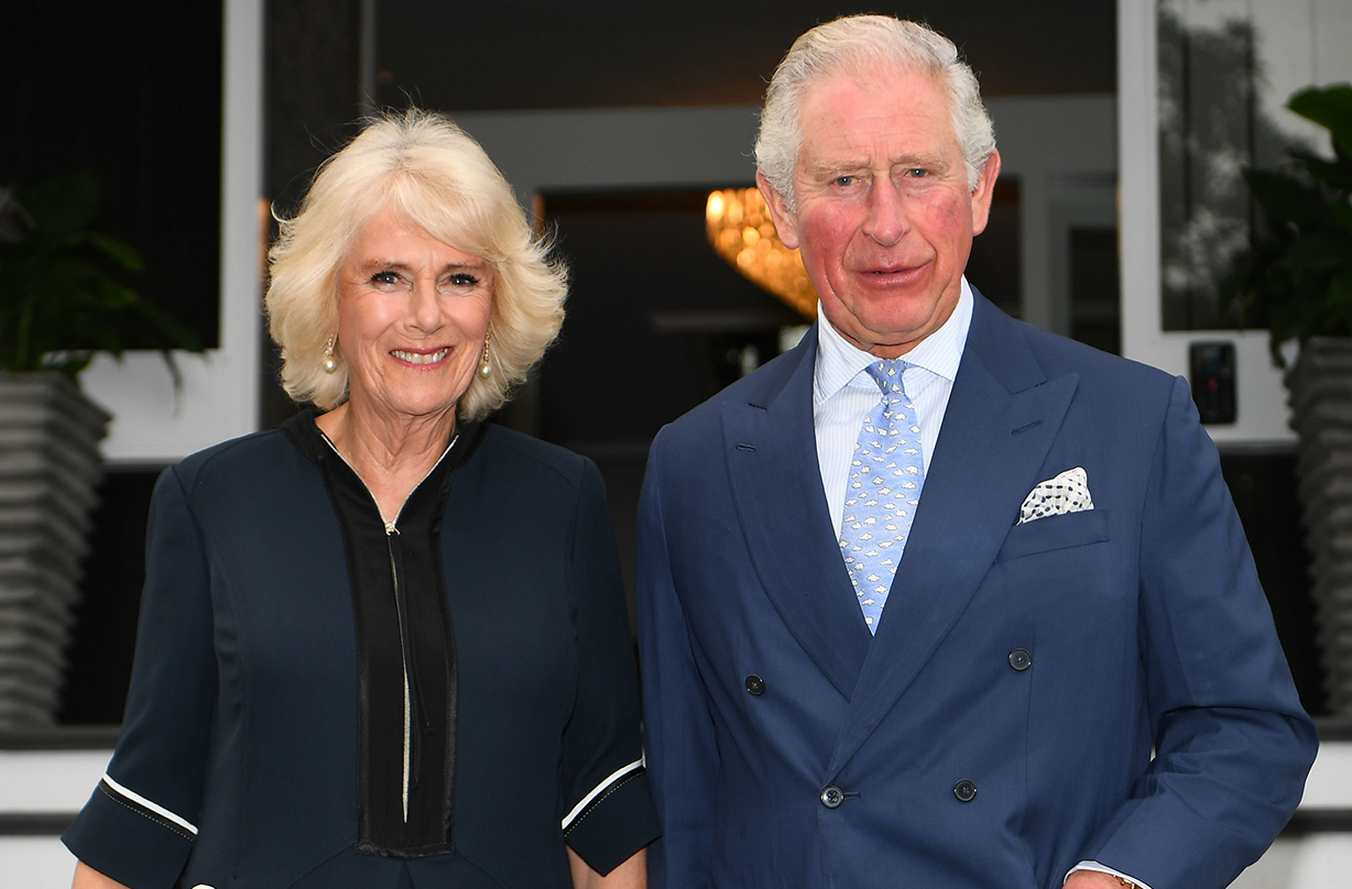 The Duchess of Cornwall stuns fans in navy blue jumpsuit on royal tour