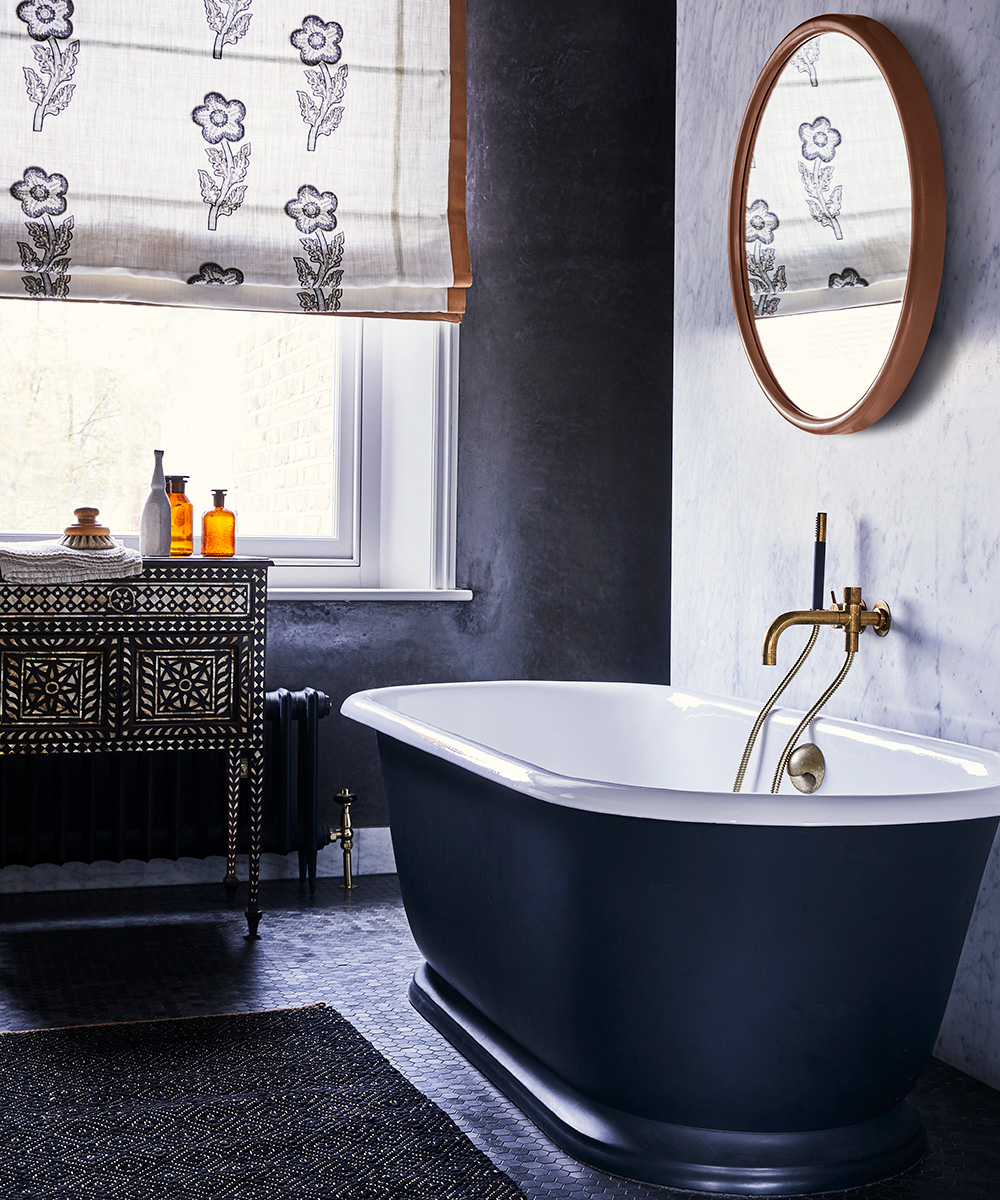 Bathroom with a rich palette of tonal browns | Homes & Gardens