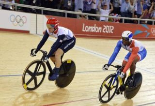 Great Britain's Jason Kenny (left) won the Sprint gold medal at the 2012 London Games