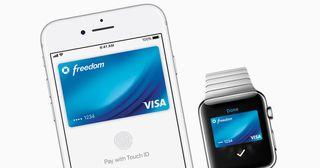 Apple pay via the Apple Watch.