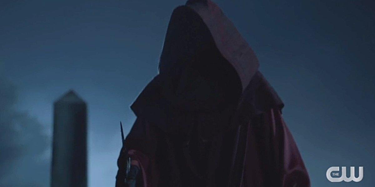 Legacies Season 2 hooded figure with knife The CW