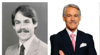 KTRK-TV anchor Tom Koch then and now