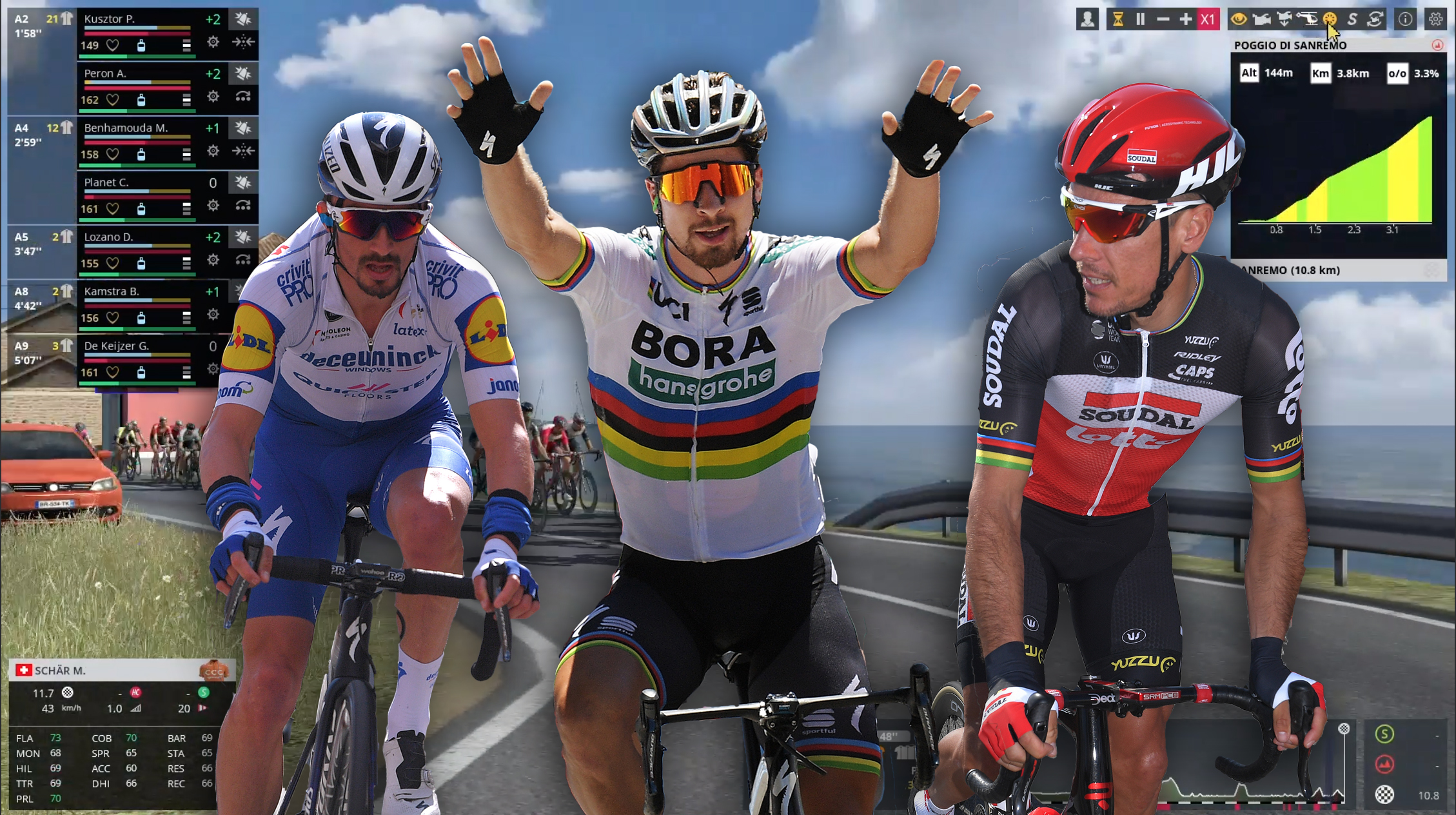 We simulated Milan - San Remo 2020 on Pro Cycling Manager...so who ...