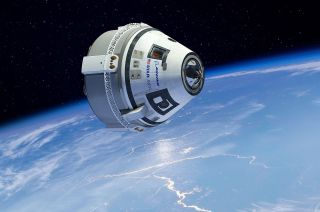 Artist's illustration of Boeing's CST-100 Starliner in orbit.