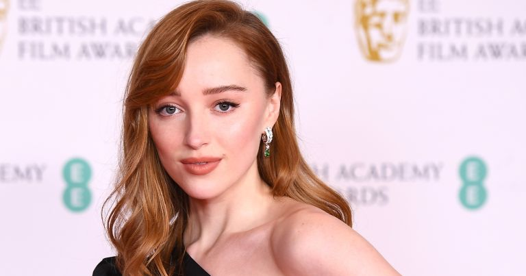 Awards Presenter Phoebe Dynevor attends the EE British Academy Film Awards 2021 at the Royal Albert Hall