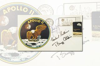 A rare Apollo 11 'insurance cover' from the personal collection of Neil Armstrong is being sold to benefit the Astronaut Scholarship Foundation. The cover was donated by Armstrong's son.