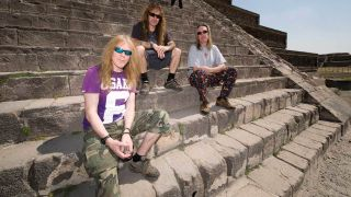 Iron Maiden in Mexico at a Mayan ruin