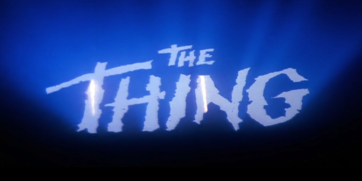 The title card for The Thing