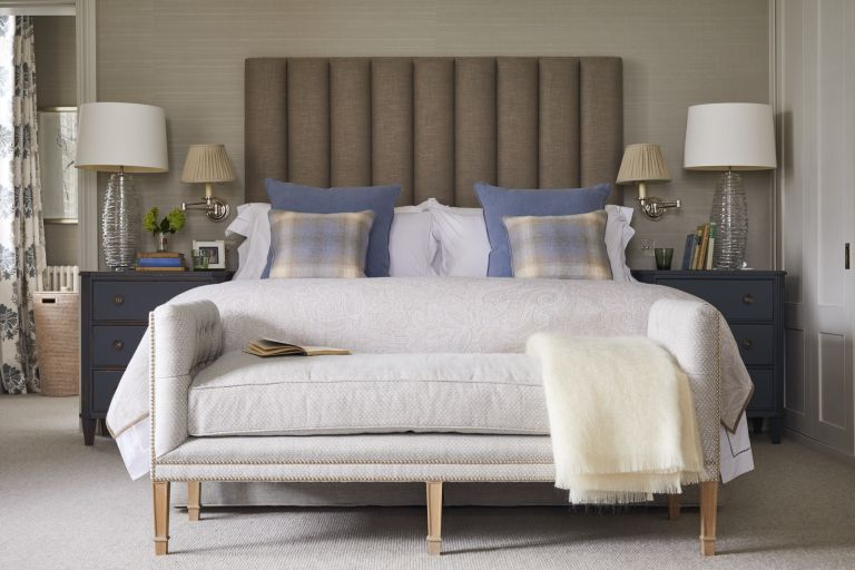 wall lights and bedside lighting ideas in country bedroom by Sims Hilditch