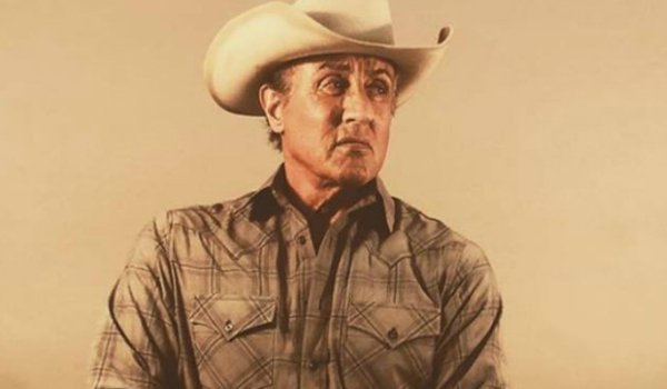Rambo V: Last Blood John Rambo dressed for the ranch with a cowboy hat and flannel