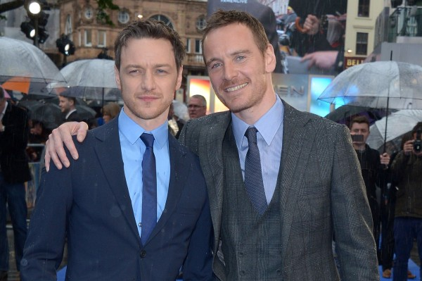 X-Men stars James McAvoy and Michael Fassbender