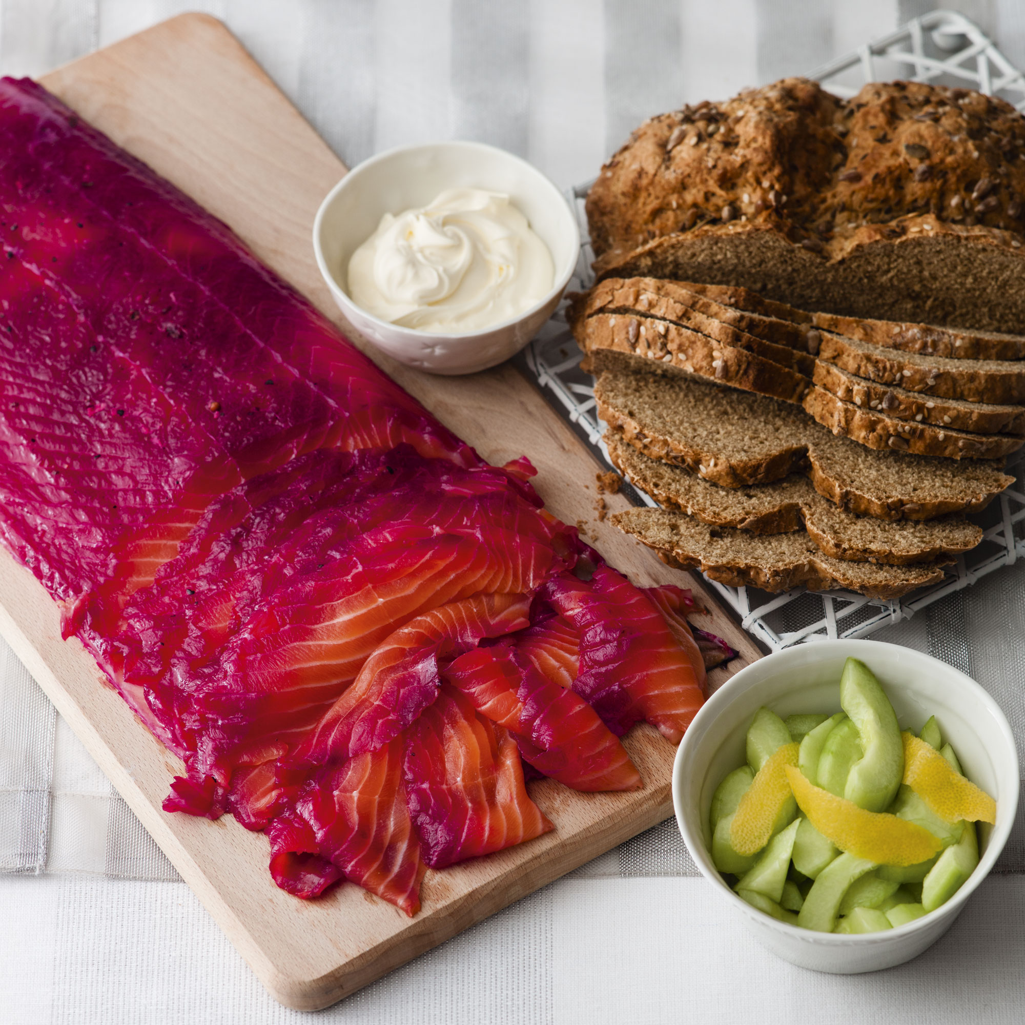 Beetroot And Gin Cured Salmon Lunch Recipes Woman Home