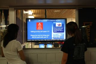 Digital Signage for Binghamton HS from Tightrope Media