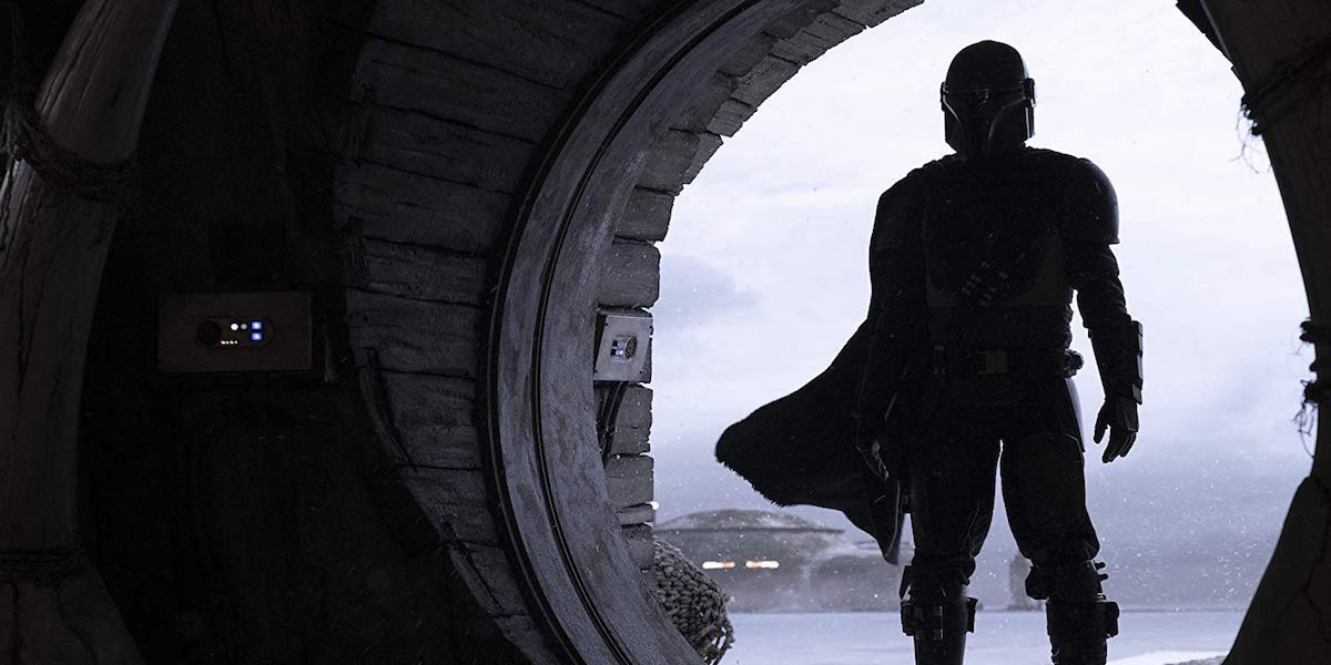 Pedro Pascal in armor in The Mandalorian