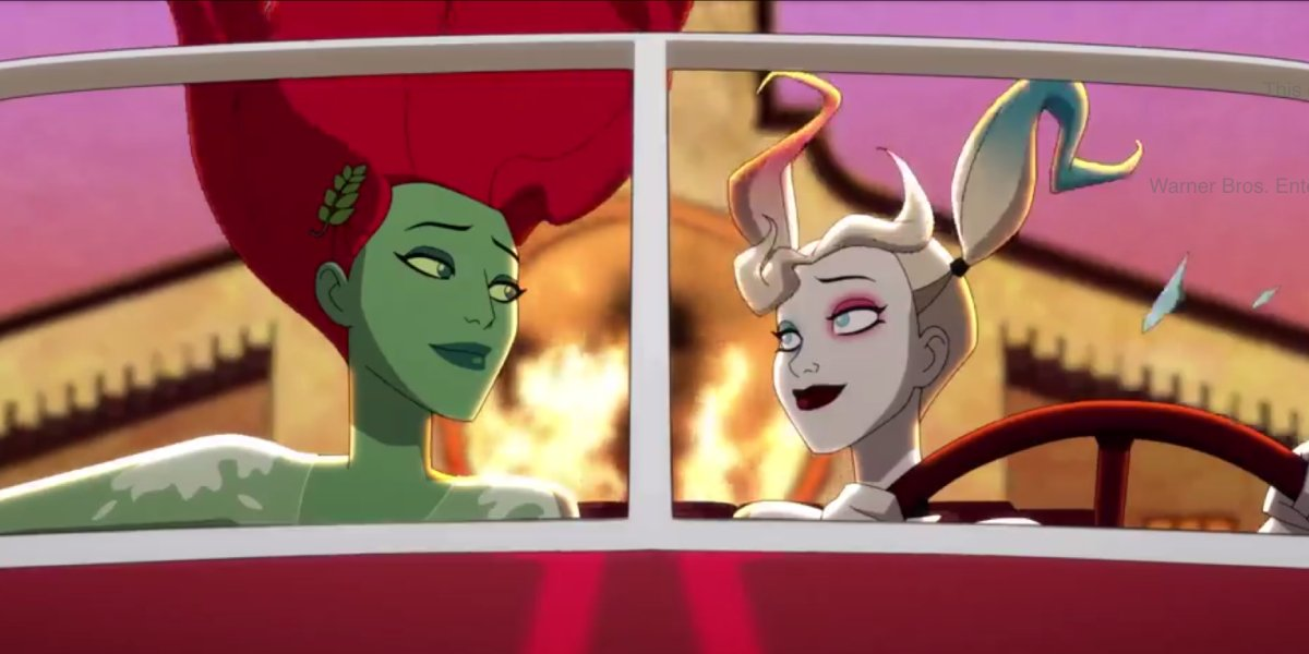 Lake Bell as Poison Ivy and Kaley Cuoco as Harley Quinn on Harley Quinn