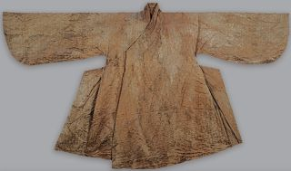 A dress found within the tomb, elaborately decorated.