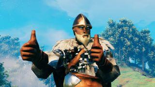 Valheim Viking giving thumbs up
