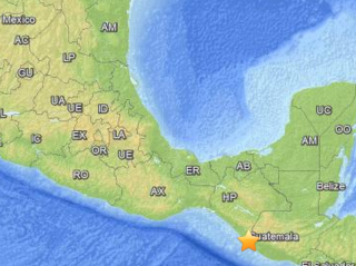 The earthquake's location is marked on a map.