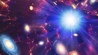 An artist's concept of the Big Bang.