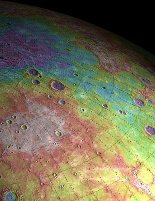A view of Mercury's northern plains, taken by NASA's Messenger spacecraft