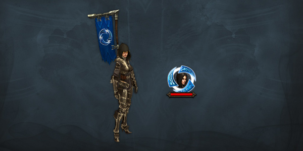 Heroes of the Storm pennant and portrait frame for Diablo 3