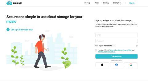pCloud's homepage