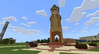 Minecraft version of Columbus State University campus