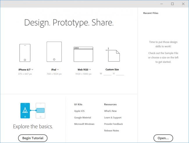 Wireframe tools: Adobe Xd