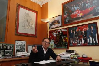 Ernesto Colnago in his office