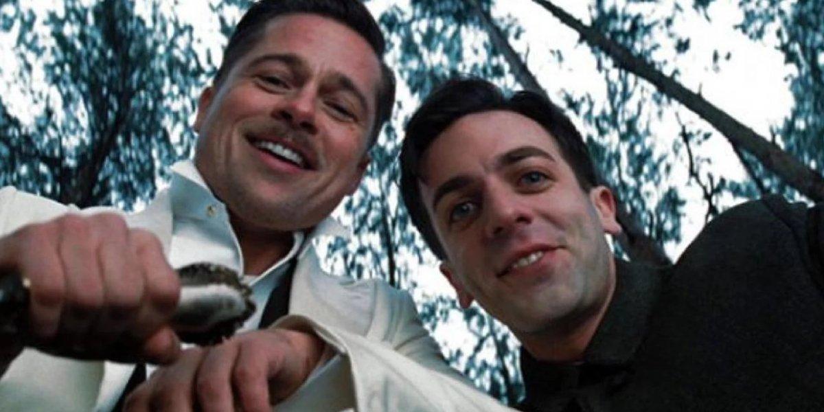 Brad Pitt and B.J. Novak fill the final frame of Inglourious Basterds
