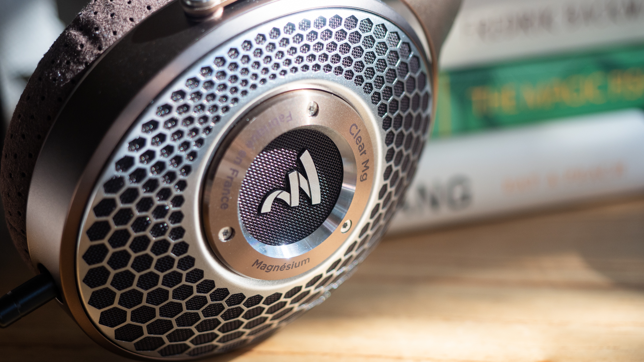 The Focal Clear Mg on a table.