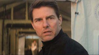 Tom Cruise looking upset
