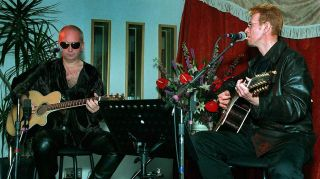 Reeves Gabrels with David Bowie