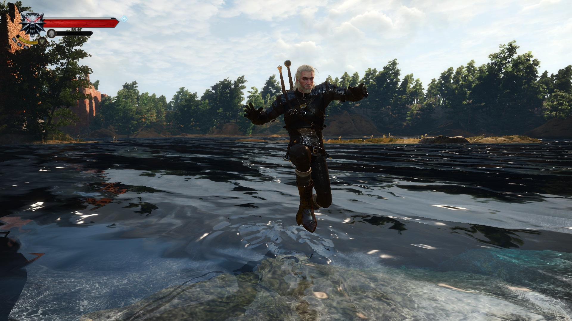 Best Witcher 3 Mods - Jump in shallow water