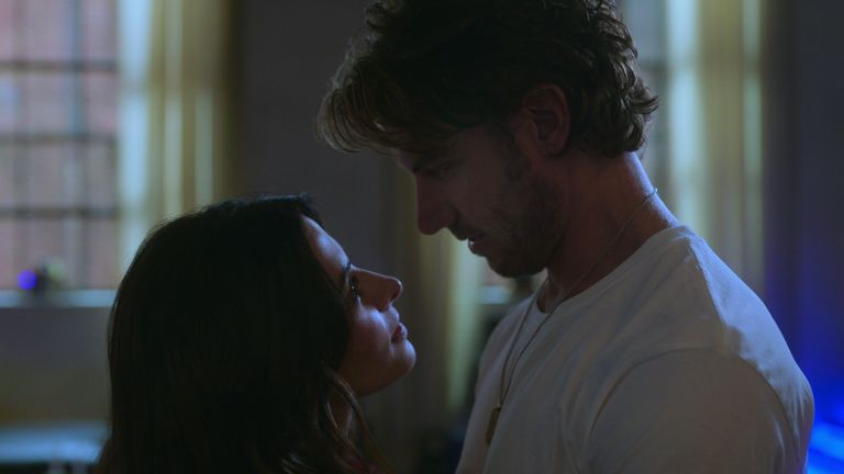 SARAH SHAHI as BILLIE CONNELLY and ADAM DEMOS as BRAD SIMON in episode 106 of SEX/LIFE