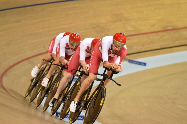 England, Team Pursuit, Commonwealth Games 2014, day one
