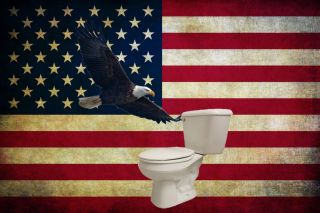 If America engaged in a mass toilet flush, minor mishaps would occur.