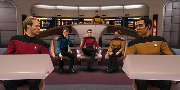 Enterprise-D bridge star trek bridge crew