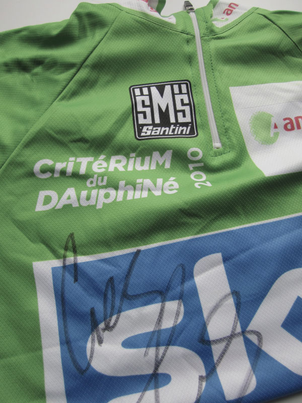 Geraint Thomas jersey, Rob Jefferies auction