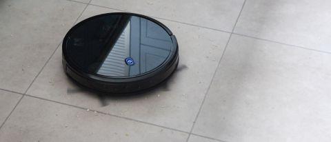 Eufy RoboVac 11S on a tiled floor