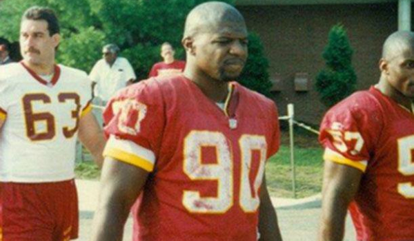 Terry Crews, in his Redskins jersey