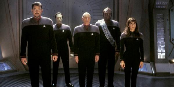 Star Trek: Nemesis The Next Generation crew in action