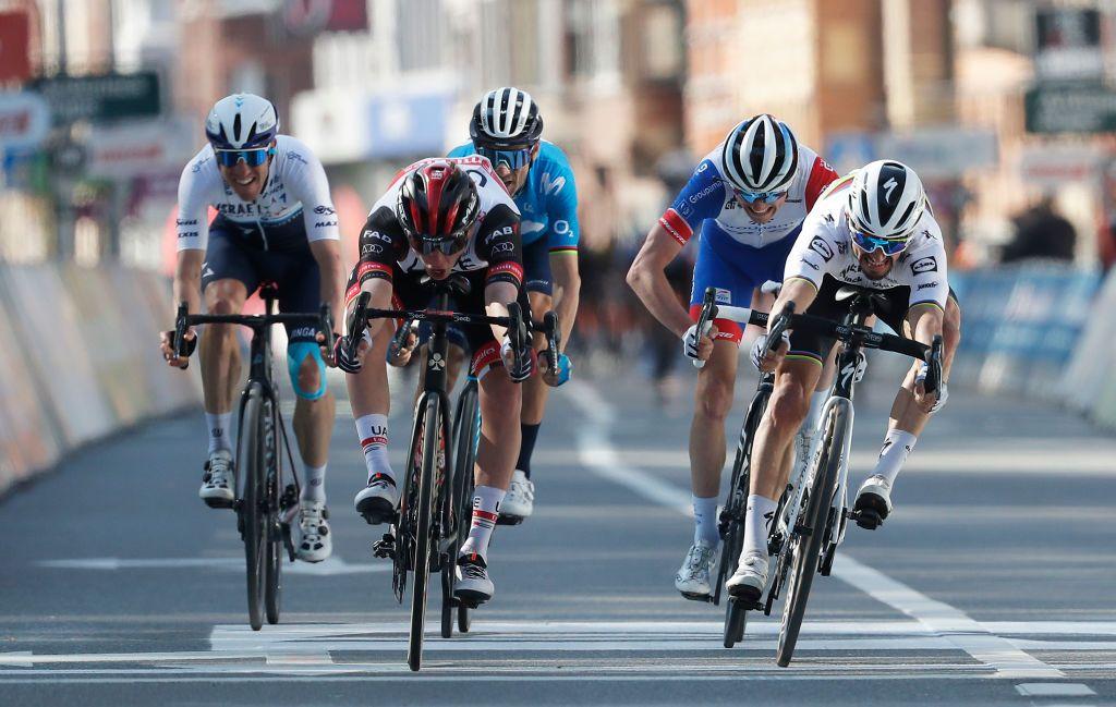 Pogacar sprint vincente a Liegi (fonte: Getty Images)