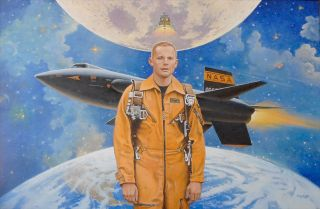 Neil Armstrong Painted by McCall
