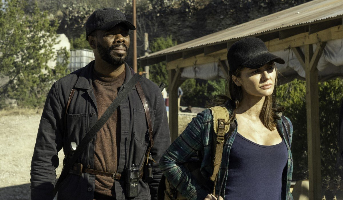 strand and sherry at Morgan's dam in fear the walking dead season 6