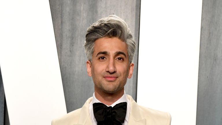 Tan France attends the 2020 Vanity Fair Oscar Party hosted by Radhika Jones at Wallis Annenberg Center for the Performing Arts on February 09, 2020 in Beverly Hills, California