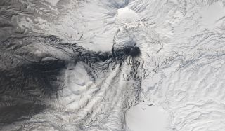 karymsky volcano in russia