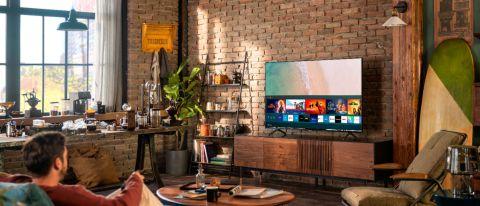 Samsung TU7000 TV in living room